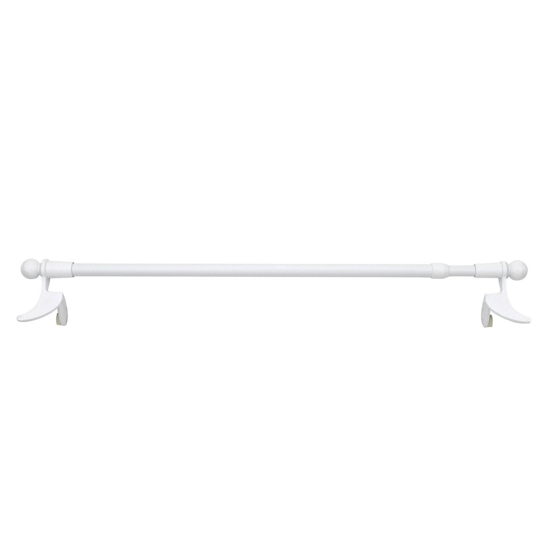 1 barre vitrage extensible sans per age presto classic blanc 40 60 cm l - Barre extensible leroy merlin ...