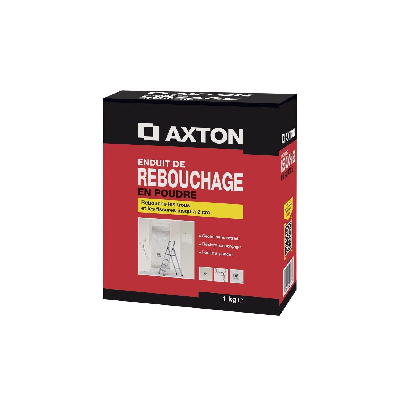 enduit de rebouchage poudre axton 1 kg leroy merlin. Black Bedroom Furniture Sets. Home Design Ideas