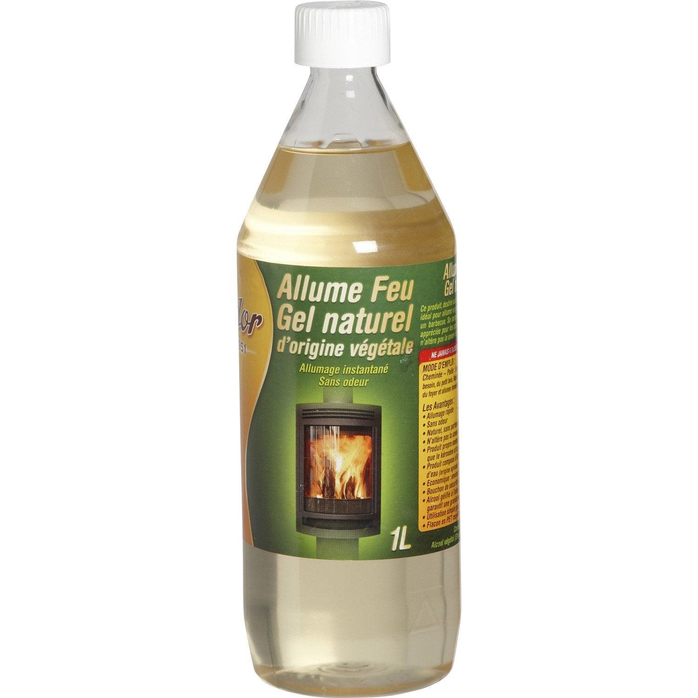 Allume feux naturel gel feudor 1 litre leroy merlin for Gel transfer leroy merlin