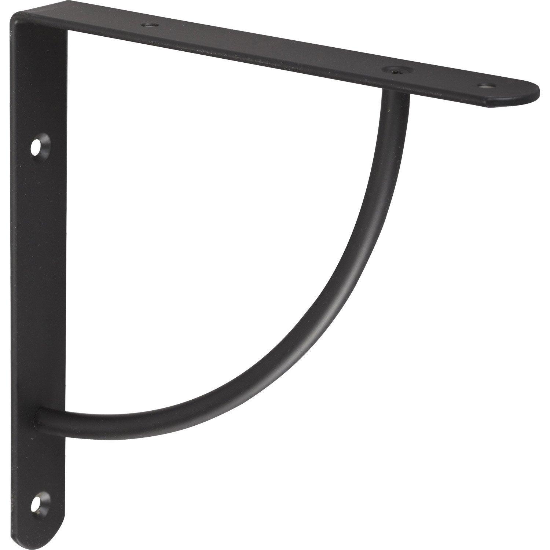 equerre bi bop acier epoxy noir x cm leroy merlin. Black Bedroom Furniture Sets. Home Design Ideas