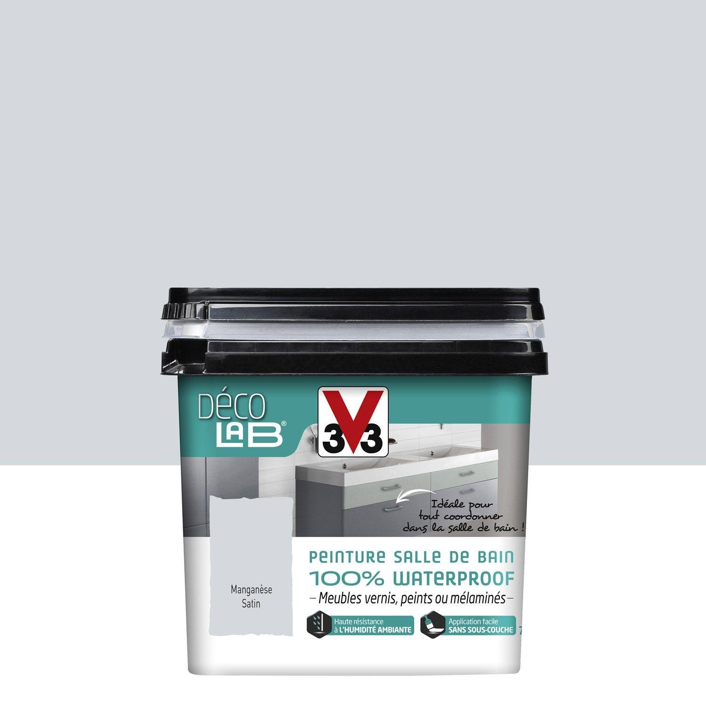 Peinture d colab 100 waterproof v33 mangan se l leroy merlin for Peinture salle de bain leroy merlin