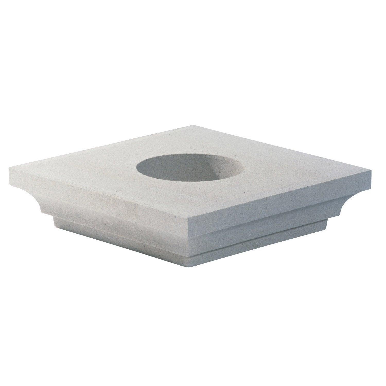 chapiteau pour poteau blanc cass leroy merlin. Black Bedroom Furniture Sets. Home Design Ideas