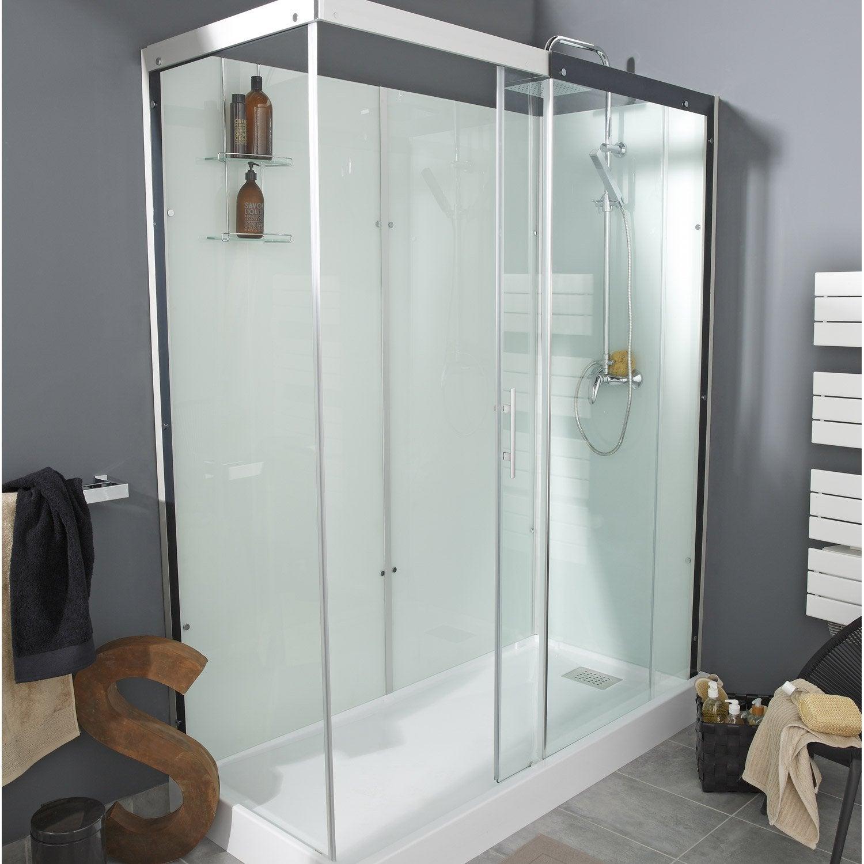 Cabine de douche rectangulaire 170x80 cm thalaglass 2 for Prix pose cabine de douche