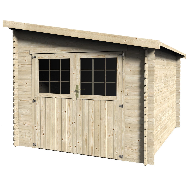 Abri de jardin bois esprit m mm leroy merlin - Garage bois en kit leroy merlin ...