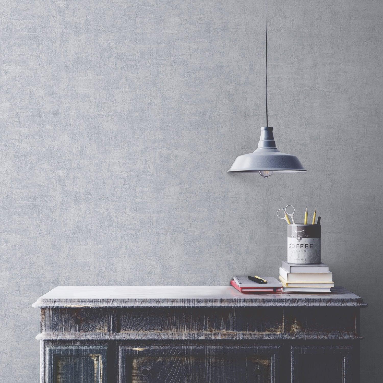 papier peint intiss uni glacier gris clair leroy merlin. Black Bedroom Furniture Sets. Home Design Ideas