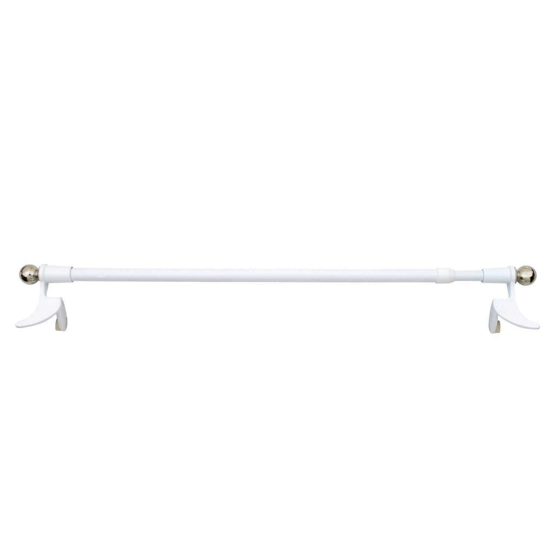 1 barre vitrage extensible sans per age presto classic blanc 60 80 cm l - Barre extensible leroy merlin ...