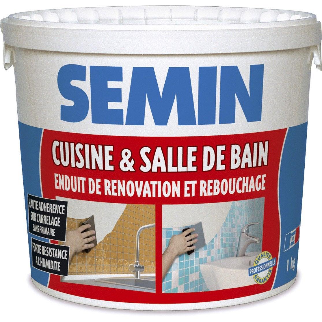 Enduit de rebouchage p te cuisine et bain semin 1 kg - Enduit de rebouchage exterieur leroy merlin ...