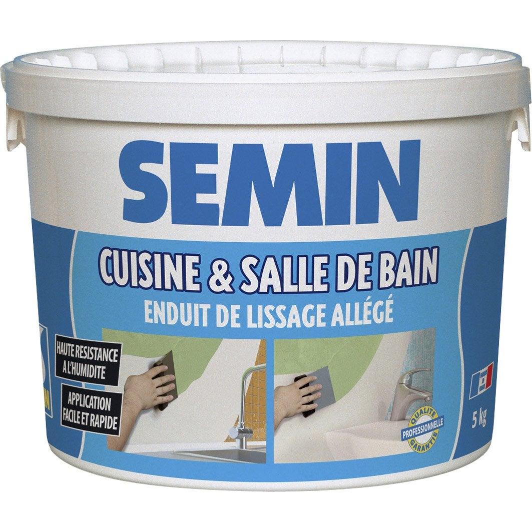 Enduit de lissage semin cuisine et bain 5 kg leroy merlin - Enduit de lissage ...