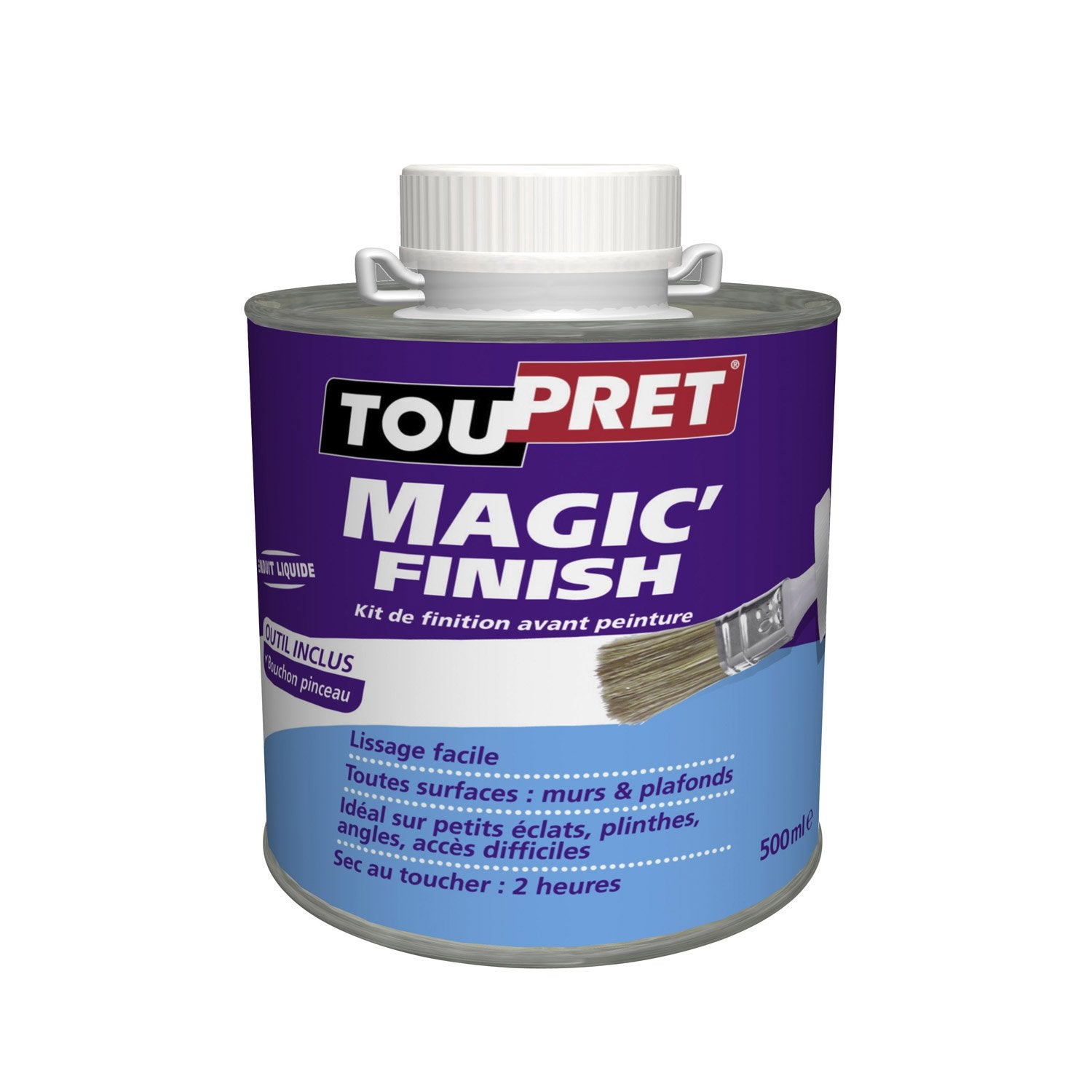Enduit de lissage toupret magic finish 500 ml leroy merlin for Video enduit de lissage