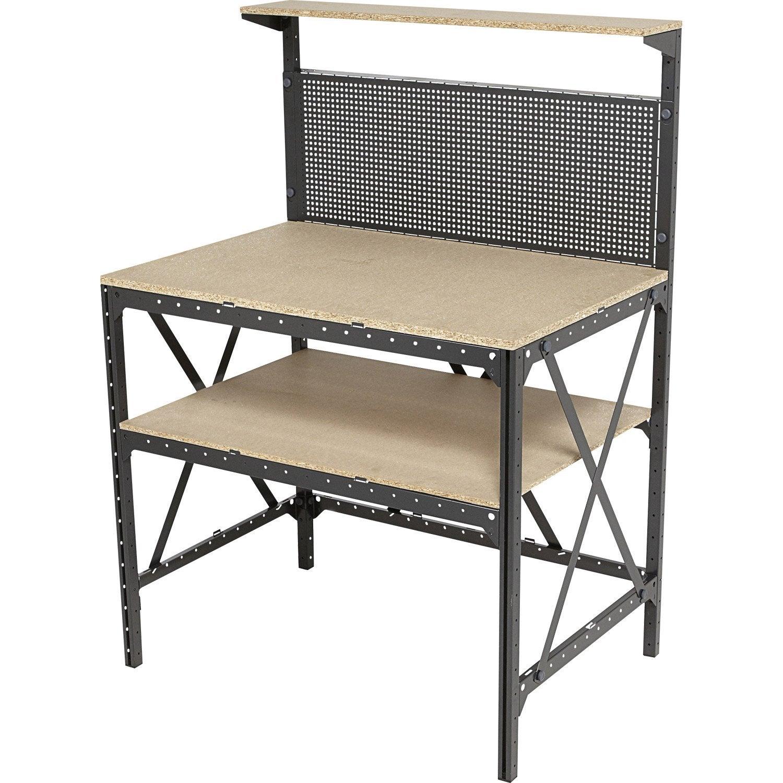 etabli dexter maker kit hub system 96cm leroy merlin. Black Bedroom Furniture Sets. Home Design Ideas