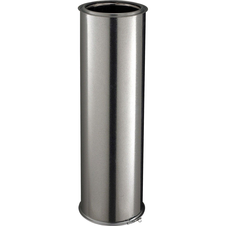 tuyau pour conduit double paroi poujoulat d150 mm m mm leroy merlin. Black Bedroom Furniture Sets. Home Design Ideas