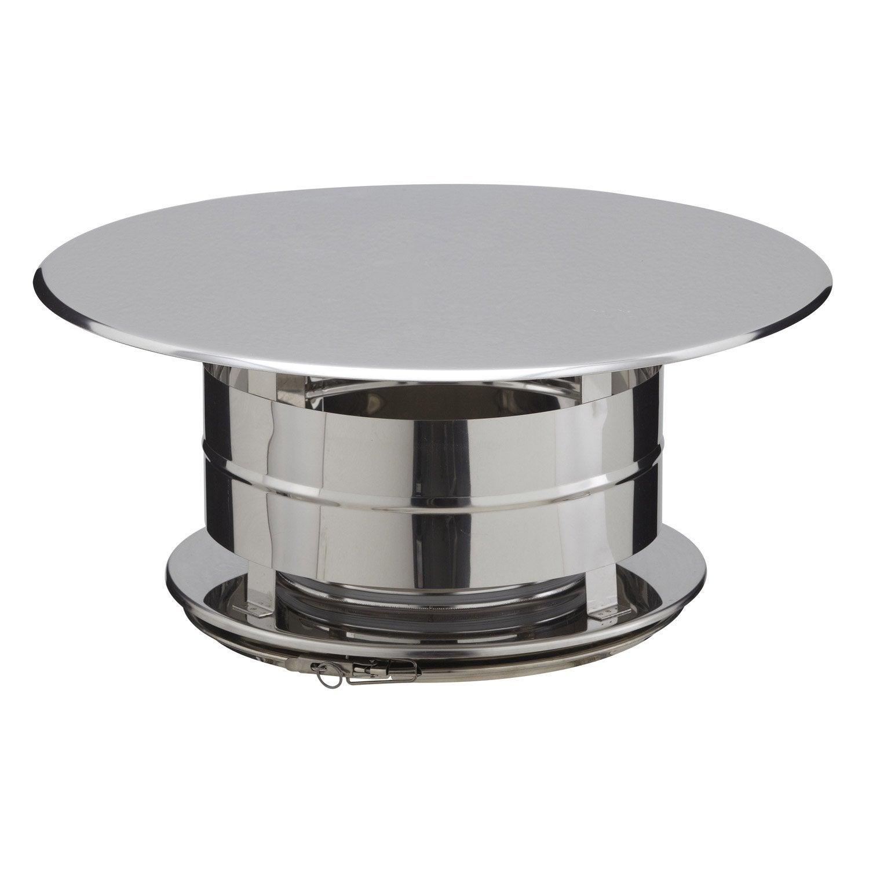Chapeau aspirateur poujoulat 150 mm leroy merlin for Chapeau de conduit de cheminee