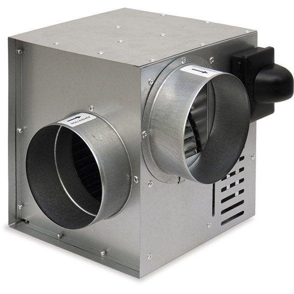Groupe de distribution d 39 air chaud dmo 230 m3 h leroy merlin - Recuperateur d air chaud ...