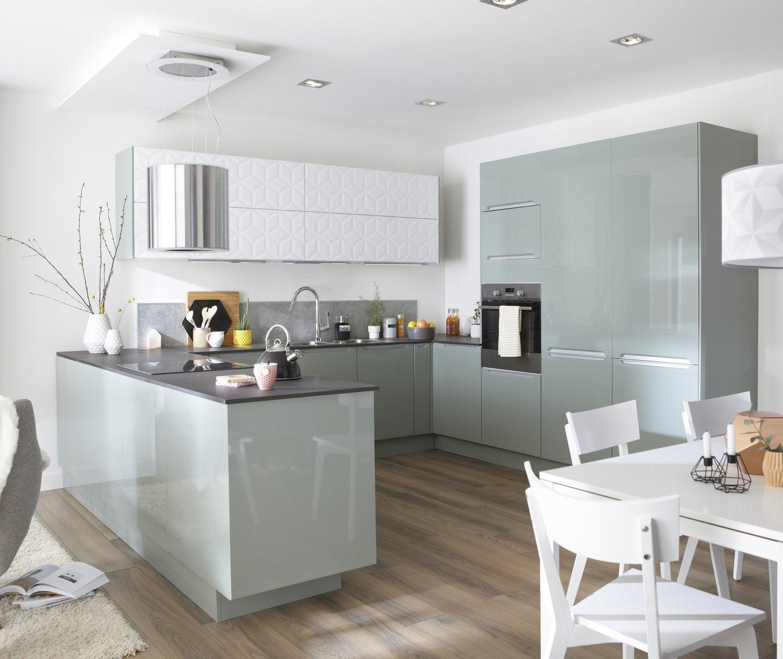 De la clart dans votre cuisine avec une vitre sur le meuble de cuisine ler - Vitre sur mesure leroy merlin ...