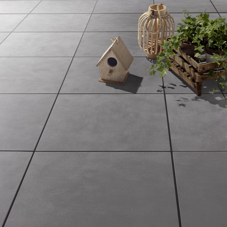 Carrelage sol gris poivr effet b ton kiosque x for Carrelage clipsable prix