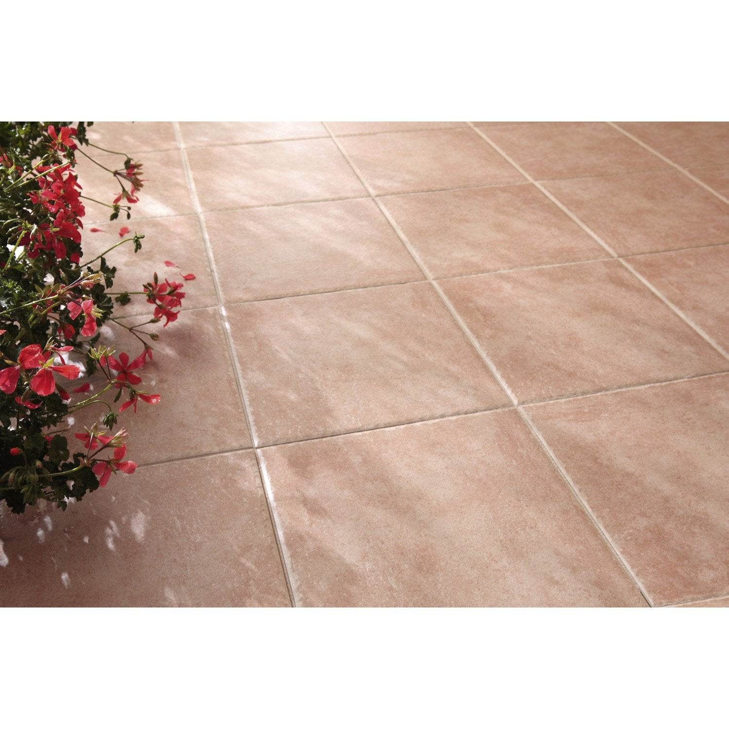 Carrelage sol rose effet pierre michigan x cm for Leroy merlin carrelage terrasse
