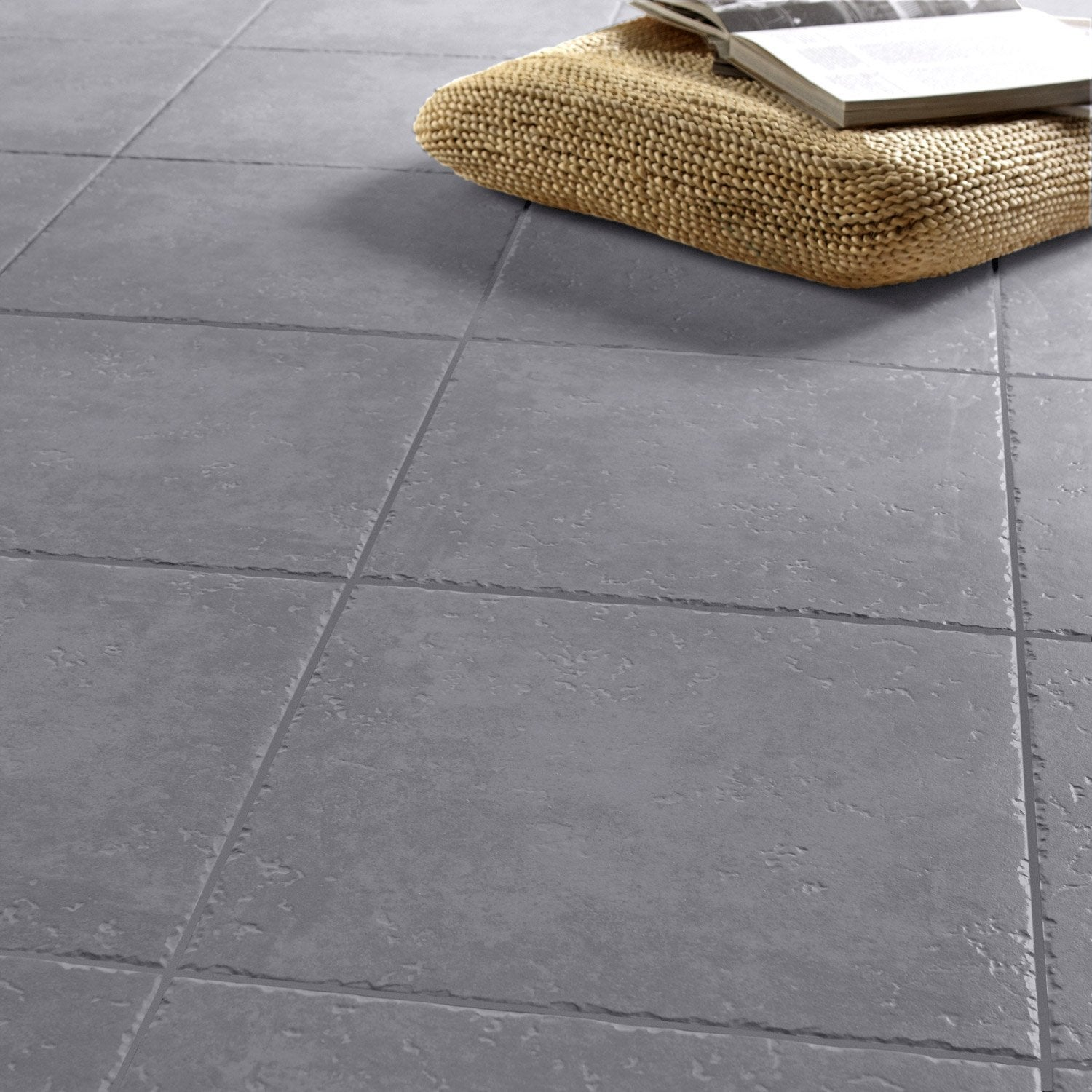 Carrelage sol gris anthracite effet pierre michigan x for Carrelage 80x80 gris anthracite