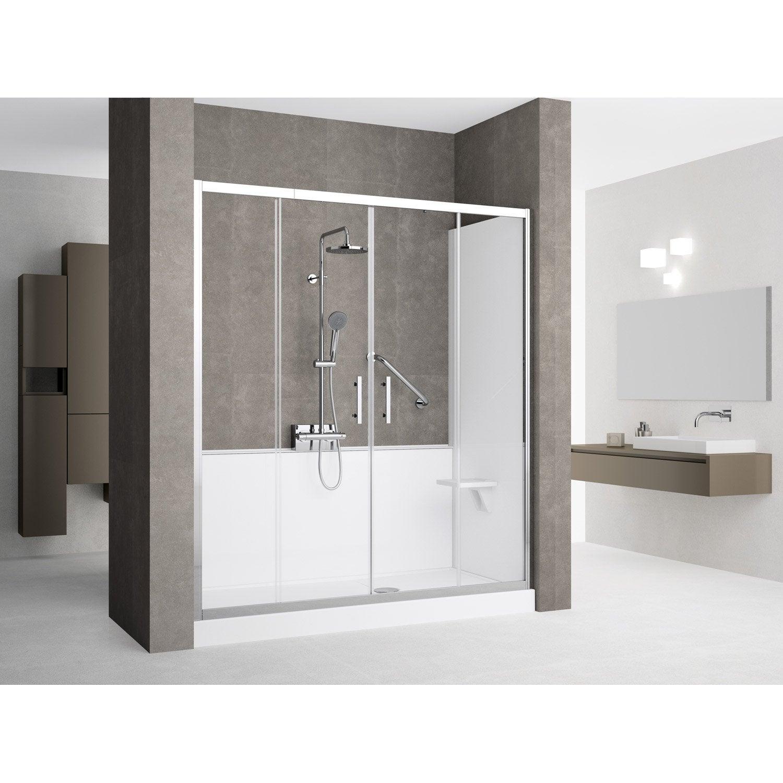 Kit de remplacement baignoire par douche en niche 80x170 for Remplacement baignoire par douche senior