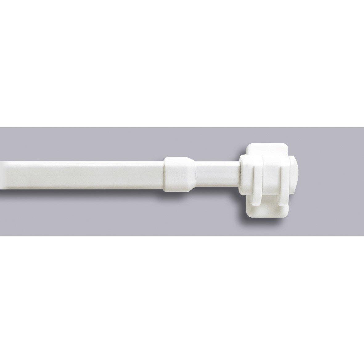 1 barre vitrage extensible sans per age inspire blanc 40 60 cm leroy me - Barre extensible leroy merlin ...