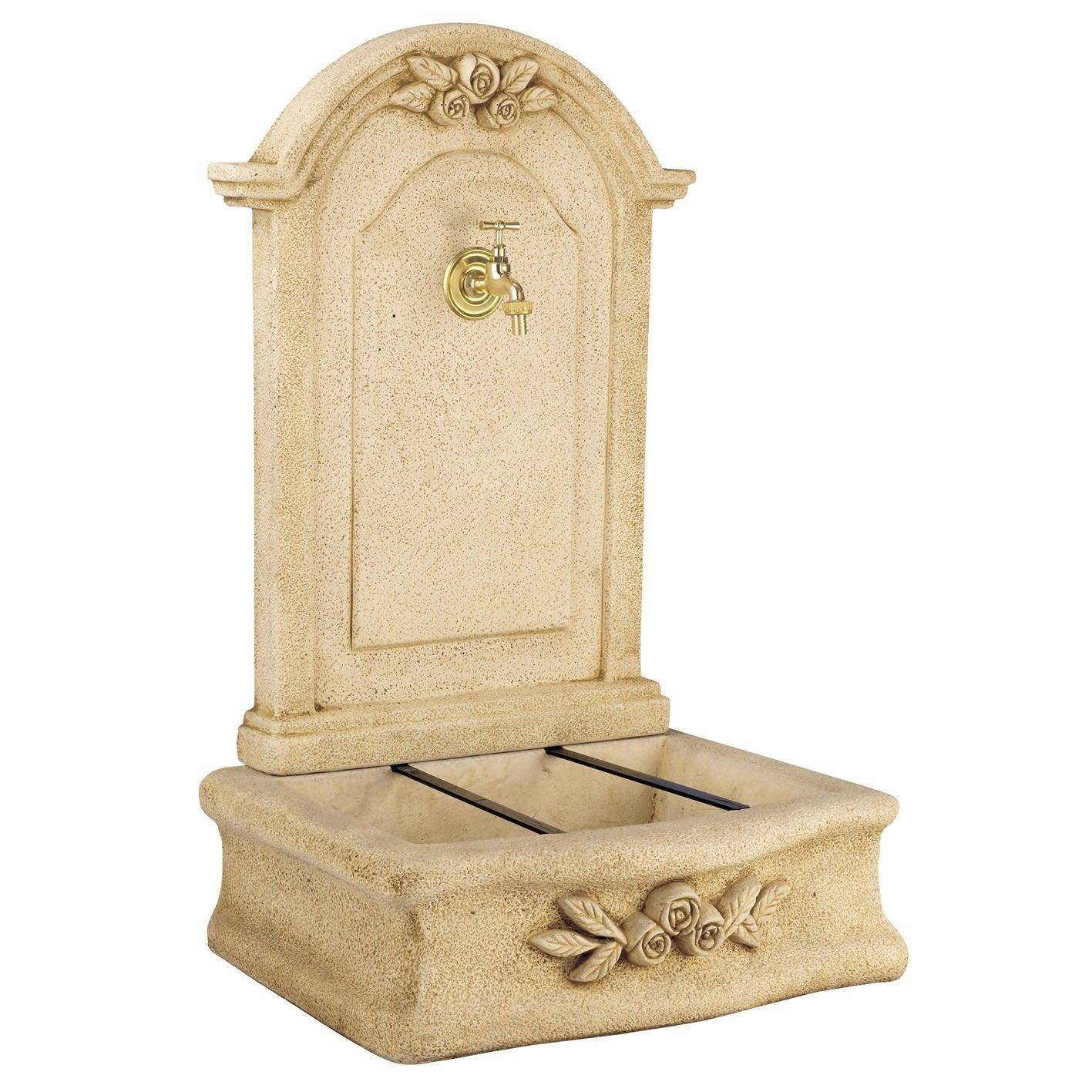 fontaine en pierre reconstitu e ton pierre beausoleil. Black Bedroom Furniture Sets. Home Design Ideas