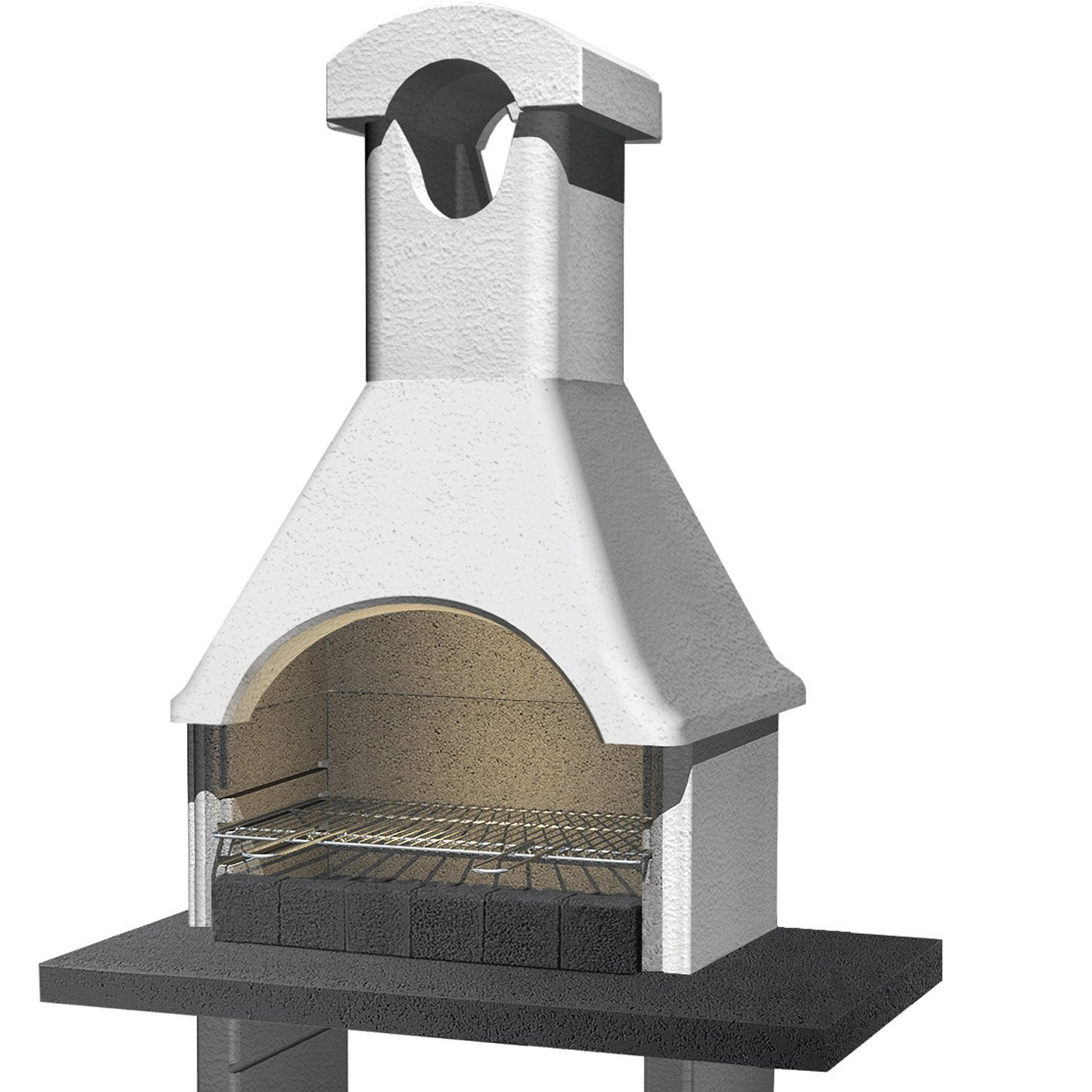 Barbecue ginevra l 64 x p 114 x h 210 cm leroy merlin for Barbecue le roy merlin