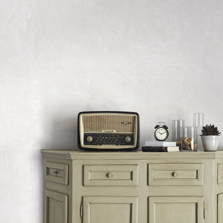 Papier peint intiss beton mat blanc blanc n 0 leroy merlin - Panneau beton imitation bois leroy merlin ...