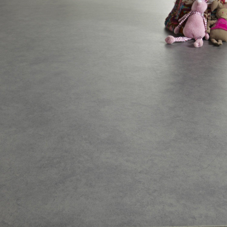 Sol PVC gris galet n°3 gris galet 3, ARTENS Reflex l.4 m | Leroy ...