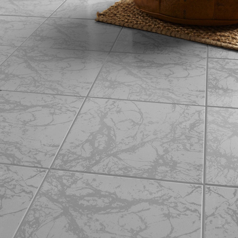 Carrelage sol et mur effet marbre polaire leroy merlin - Le roy merlin carrelage ...