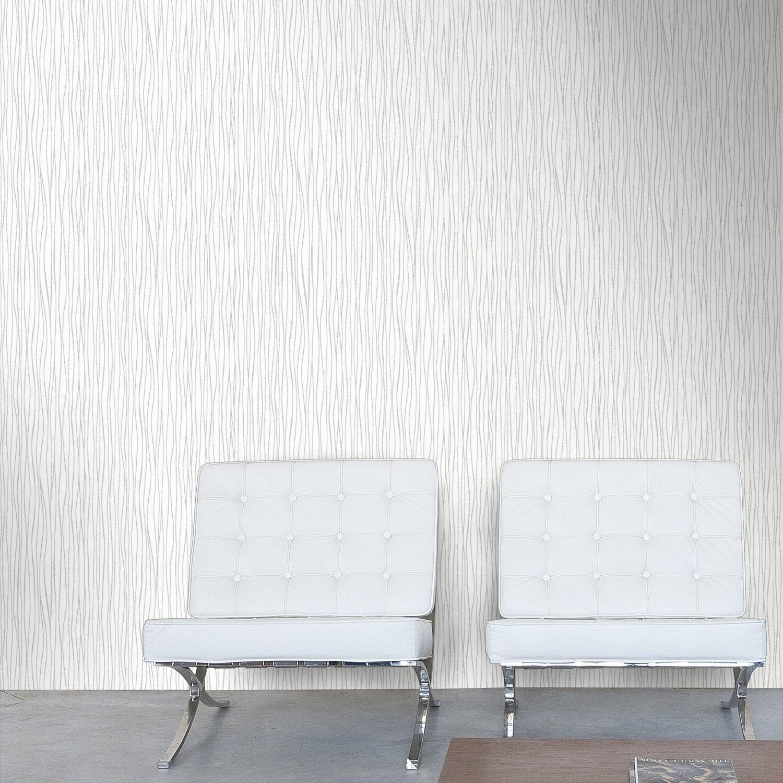 Papier peint intiss zigzag blanc leroy merlin - Papier peint leroy merlin ...