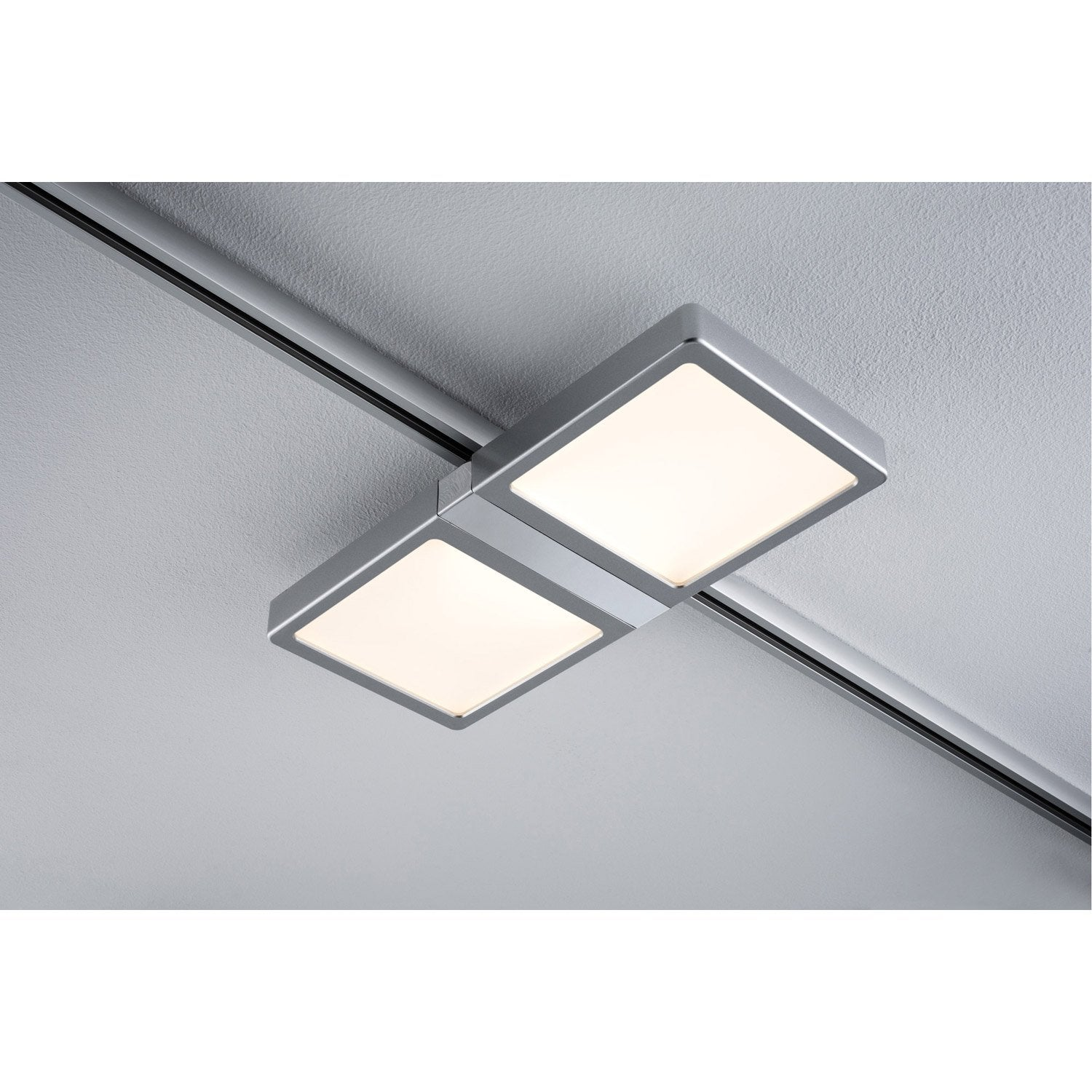 Spots et suspensions pour rail paulmann panel double led for Led pour carrelage