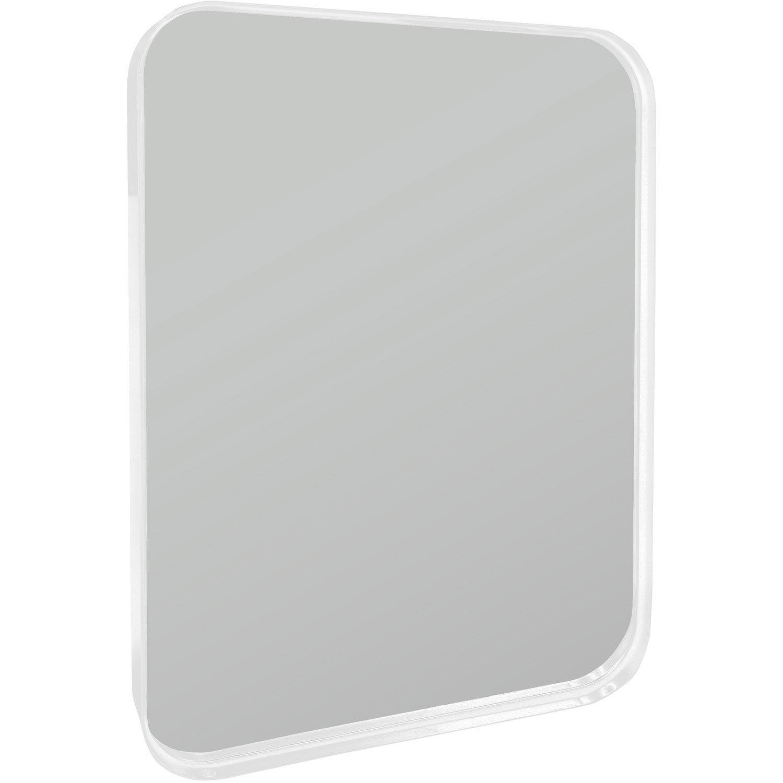 Miroir uyuni inspire blanc x cm leroy merlin for Miroir 50 x 70 leroy merlin
