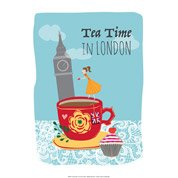 Affiche Tea time l.51 x H.41 cm