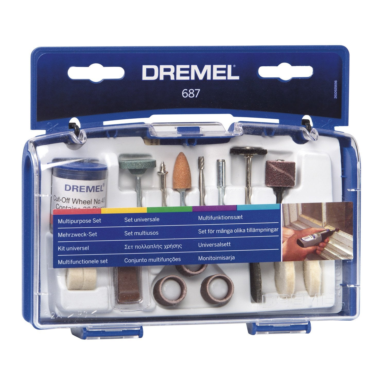 Kit de 52 accessoires pour travaux g n raux dremel - Dremel leroy merlin ...