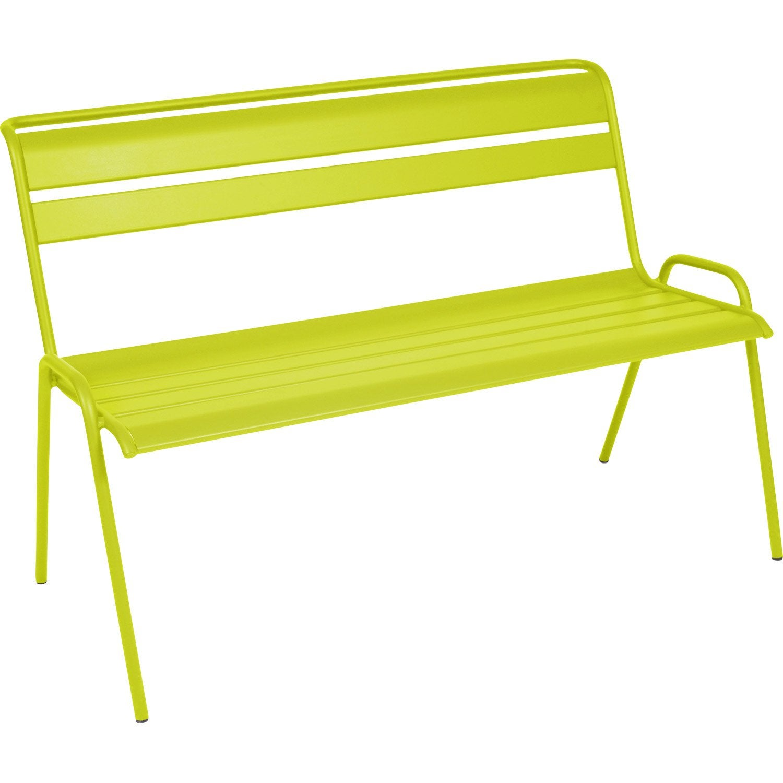 banc 2 places de jardin monceau fermob en acier verveine leroy merlin. Black Bedroom Furniture Sets. Home Design Ideas