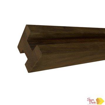 poteau en bois forme en h douglas l 9 x p 9 x leroy merlin. Black Bedroom Furniture Sets. Home Design Ideas