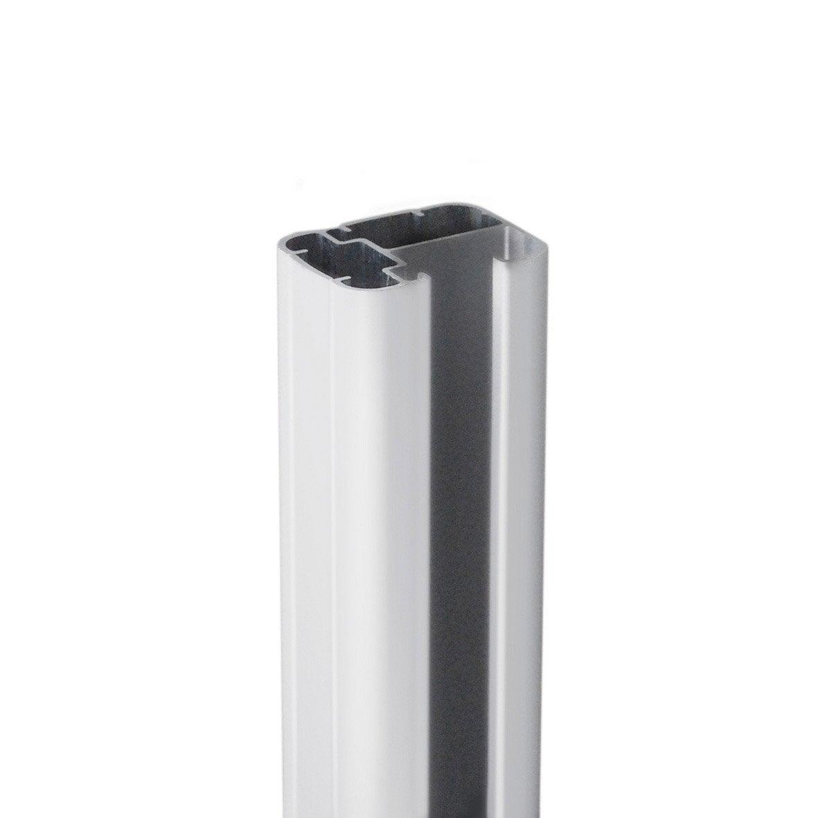 poteau en aluminium forme en h l 6 5 x p 5 x leroy merlin. Black Bedroom Furniture Sets. Home Design Ideas