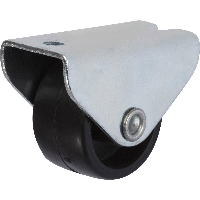 Roulette fixe platine pour ameublement diam tre 25 mm for Leroy merlin ameublement