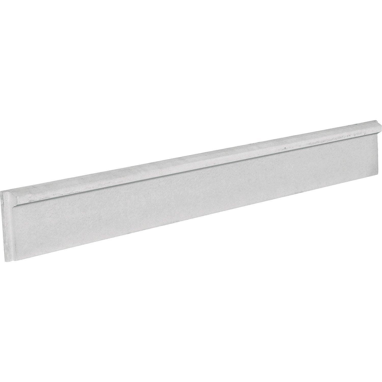 Plaque droite finition de soubassement en b ton pleine l200 x cm x leroy merlin - Prix poutrelle beton leroy merlin ...