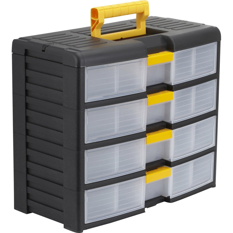casier vis plastique 4 tiroirs h 33 4 x l 39 1 x p. Black Bedroom Furniture Sets. Home Design Ideas