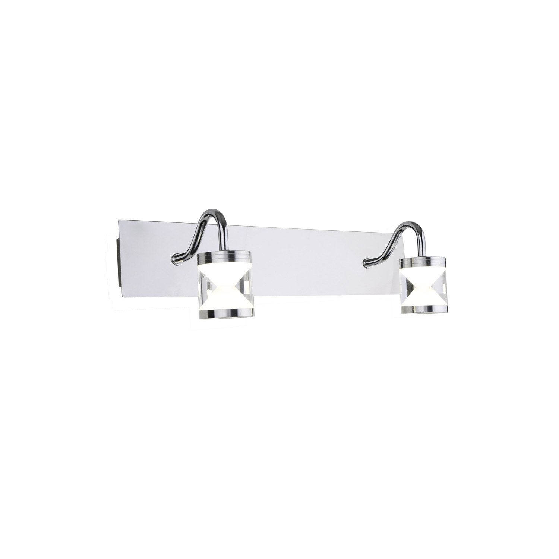 Applique lyros led 2 x 5 w led int gr e blanc froid for Applique led leroy merlin