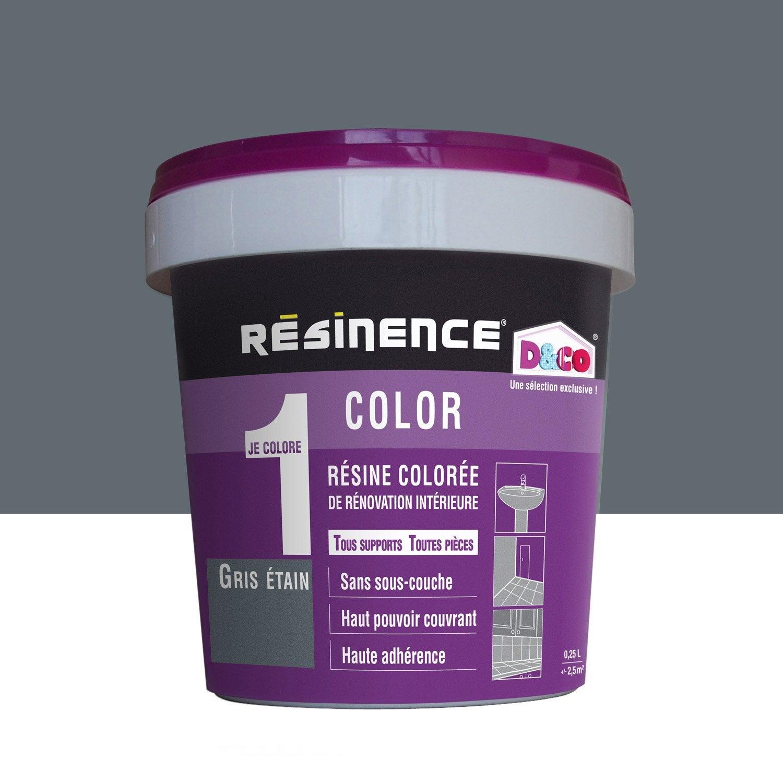 R sine color e color resinence gris tain l leroy merlin - Produit pour nettoyer l etain ...