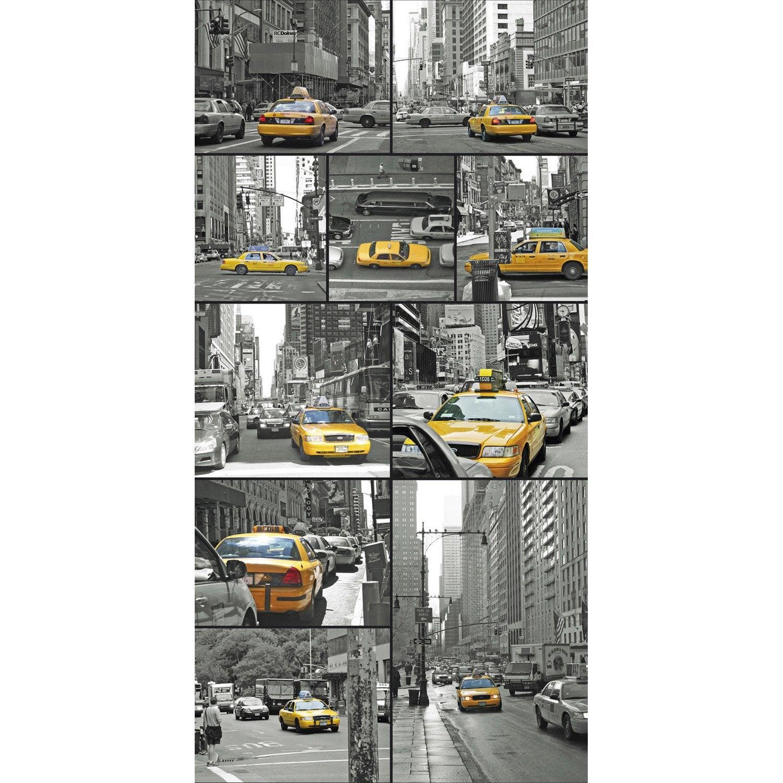 Panneau Mural X Cm Deco K In Yellow Cab Leroy Merlin