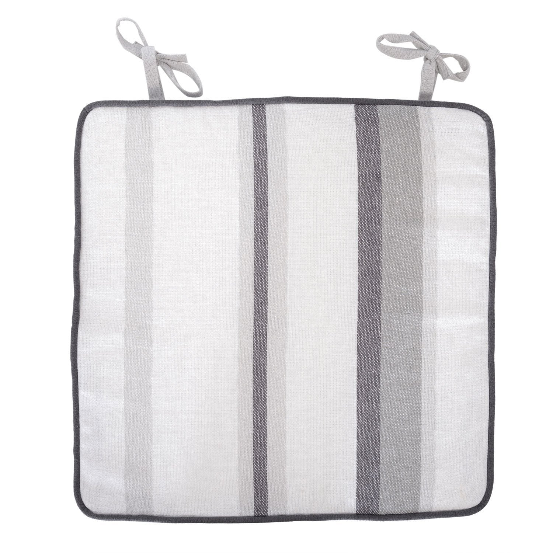 galette de chaise gris 38 x 38 cm leroy merlin. Black Bedroom Furniture Sets. Home Design Ideas