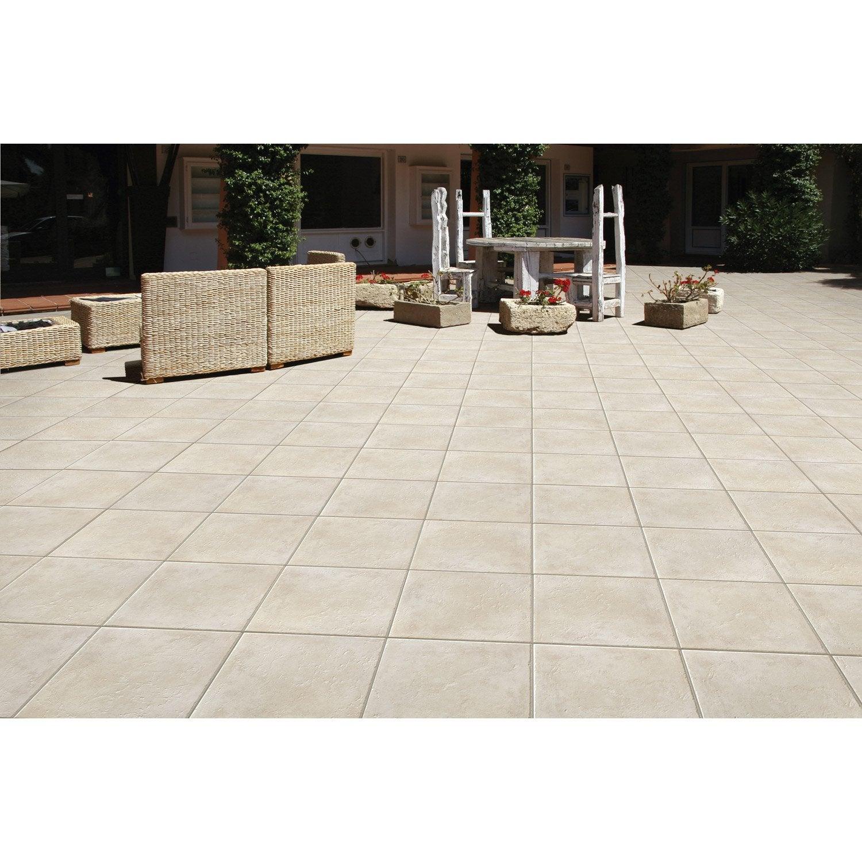 Carrelage beige effet pierre denia x cm for Carrelage pour facade exterieure