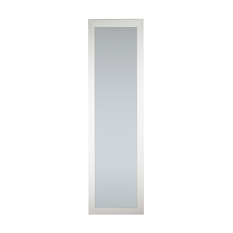Miroir mia inspire blanc x cm leroy merlin for Miroir quadrilobe blanc