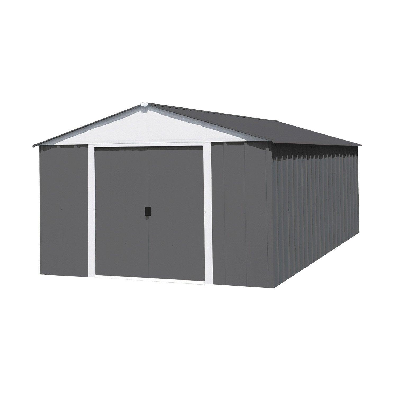 abri de jardin en m tal naterial lm 1014 hg 12 m p 8 mm leroy merlin. Black Bedroom Furniture Sets. Home Design Ideas