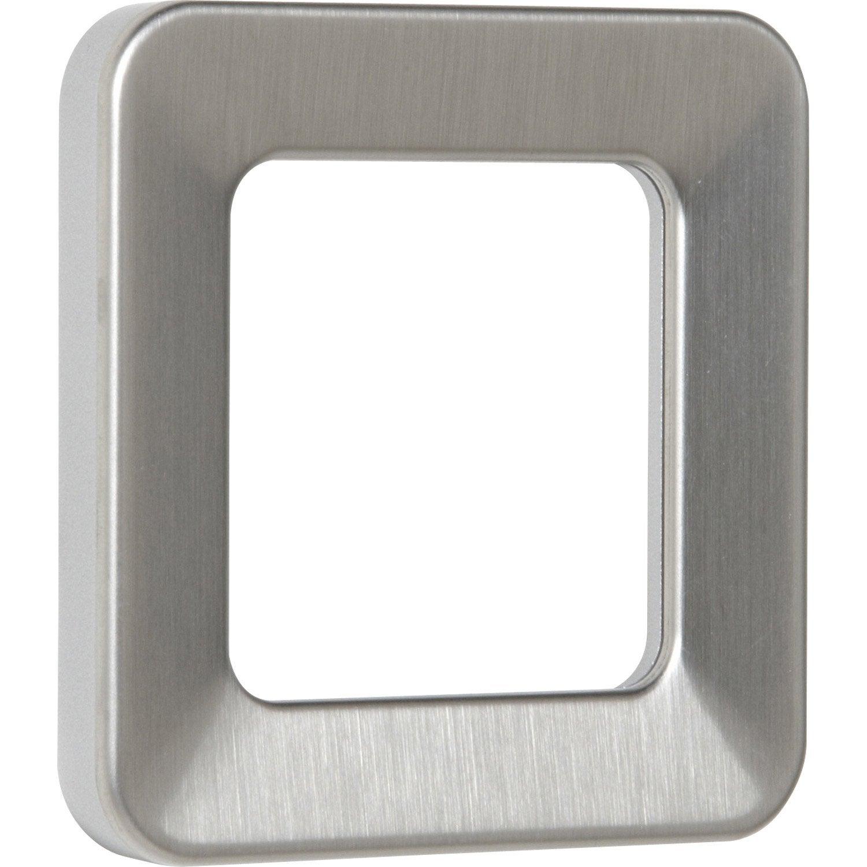 plaque simple lexman s rie city coloris inox bross leroy merlin. Black Bedroom Furniture Sets. Home Design Ideas