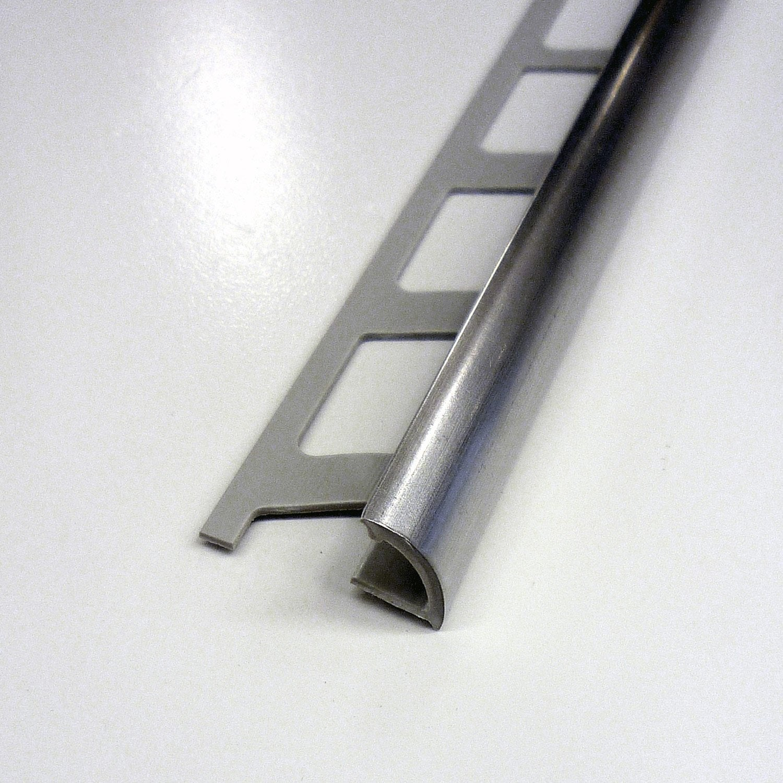 Quart de rond en PVC, inox, 2.5 m x 9 mm | Leroy Merlin