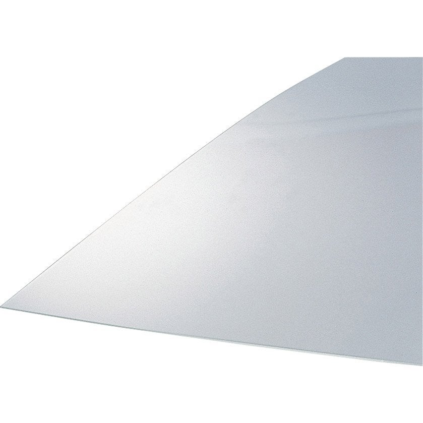 plaque de verre synth tique lisse transparent anti uv 200x100cm p 4mm leroy merlin. Black Bedroom Furniture Sets. Home Design Ideas