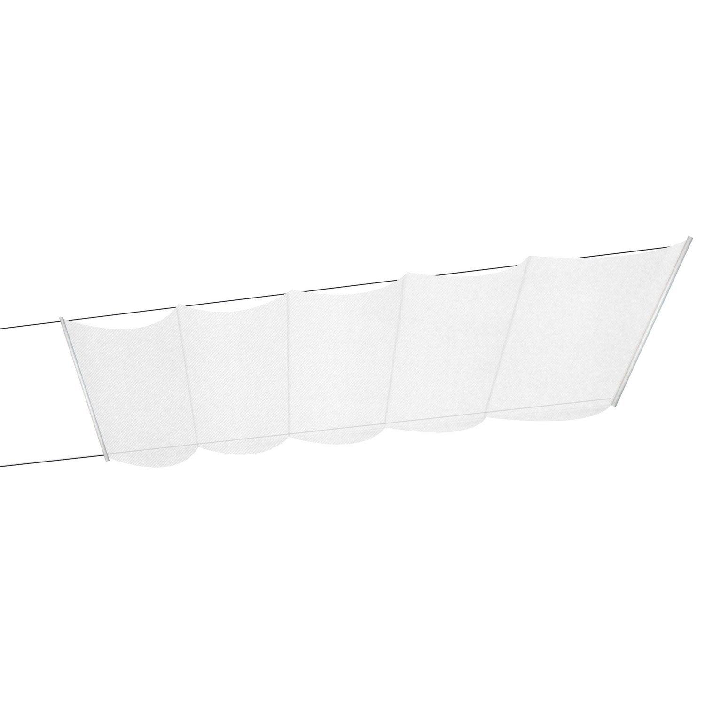 store bateau tlu polyester gris clair x cm leroy merlin. Black Bedroom Furniture Sets. Home Design Ideas